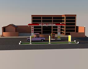 3D Gas station petrol-station