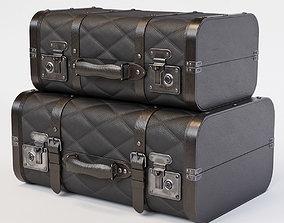 Black Vintage Suitcases luggage 3D model