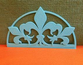3D printable model Stand for napkins Fleur De Lis