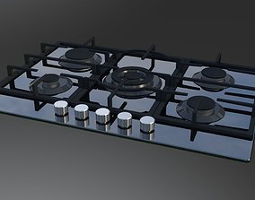 Cooktop Gas GE 3D model