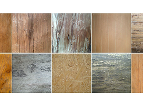 Wood textures 10 pack game ready 3D asset