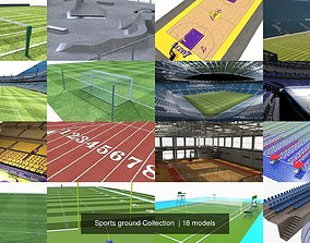 Sports ground Collection 3D model