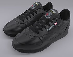 Reebok Classic Leather Black PBR 3D model