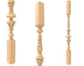 Wood baluster 3 3D printable model