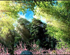 Suburban forest 001 3D model