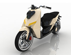 beige small scooter 3D