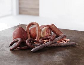 3D Meat for supermarket hi-poly