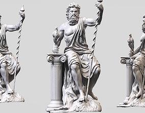 3D print model architectural Zeus sculpt