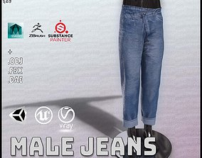 3D model VR / AR ready Male Jeans