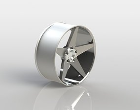 3D model Car Rim 17 inches