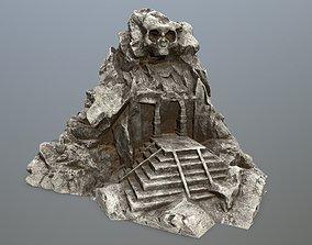 skull gate 3D model game-ready cave