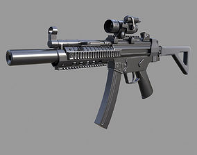 Mp5 UMP High-Poly model