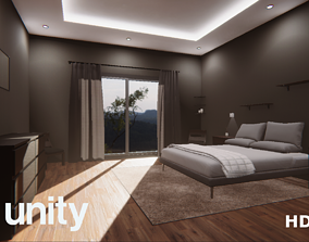 3D model game-ready Unity HDRP Bedroom
