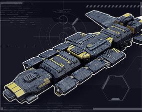 Intergalactic Frigate 3D asset