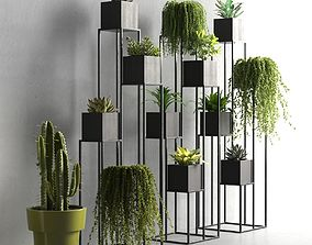 Quadrant Plant Stand 3D