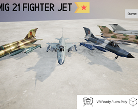 MiG 21 Pack of 5 Designs - Rigged and Animated 3D asset