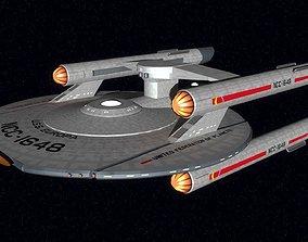 3D model USS Europa TOS style Nimitz class battlecruiser