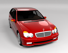 3D model MERCEDES C CLASS ESTATE LOWPOLY