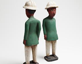 Green Man an African wood sculpture 3d scan PBR