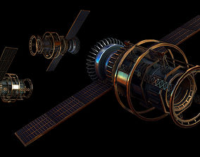 3D model Satellite orbit