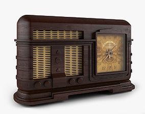3D model retro Old Radio