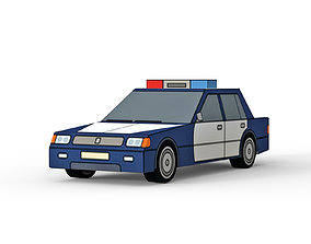 low-poly 3D model Police car
