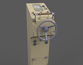 3D asset Ship steering wheel