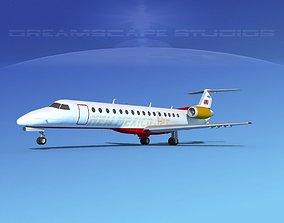 Embraer ERJ-140 New Mexico Jet 3D model