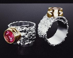 3D print model Crumpled embossed ring