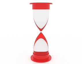 3D model low-poly sandglass Hourglass