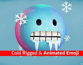 Cold or Freezing Animated Emoji Reaction 3D asset