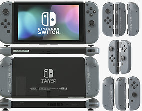 3D model Nintendo Switch with Gray Joy-Con