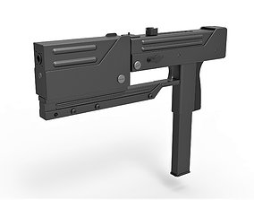 Submachine gun modified MAC-11 from the movie 3D model 2