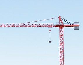 3D Construction Crane - Hammerhead Tower Crane