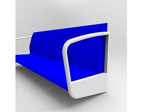 Metro seats 3D model