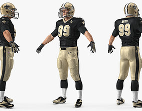 New Orleans Saints American Football Player 3D