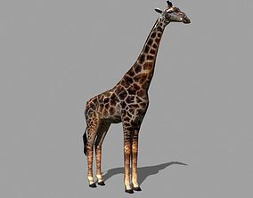 Superb Low-Poly Giraffe - 3d model animated