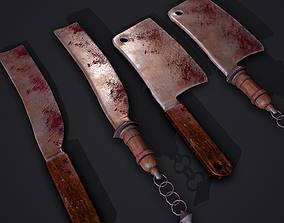 Machete and Cleaver with interchangeable Hilts 3D