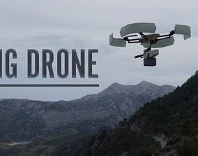 MG Quadcopter Drone 3D asset