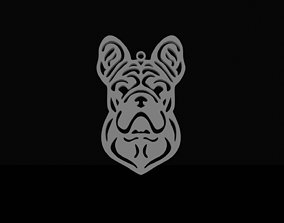 3D printable model French bulldog pendant