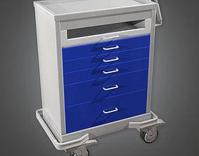 3D asset Medical Supply Cart 05 HPL - PBR Game Ready