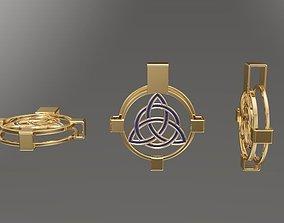 celtic Celtic cross pendant 3d model for 3d printing