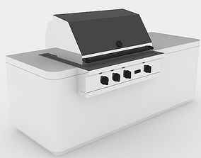 3D model animated Barbecue