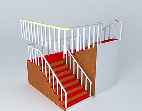 3D model Reverse direction stair case