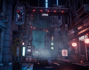 3D asset Cyberpunk City Modular Kit Kitbash