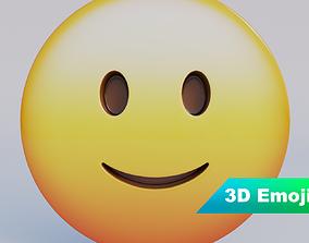 game-ready Slightly Smiling Face 3D Emoji