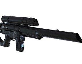 3D model assault-rifle Sniper Rifle