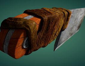 3D model Meat Cleaver Chopper Knife