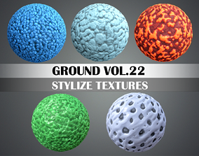 Stylized Snow Vol 22 - Hand Painted Texture Pack 3D model