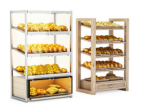 Bread racks with filling 3D